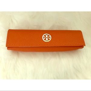 Orange Color Tory Burch Eye Glasses Holder Case